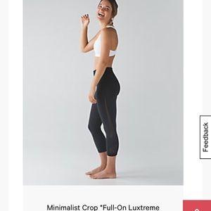 RARE Lululemon minimalist crop